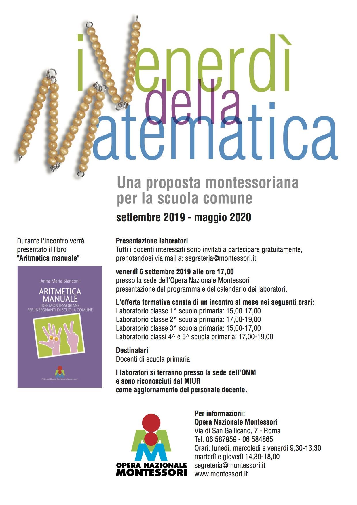Calendario Mese Di Maggio 2020.Roma 6 Settembre 2019 Presentazione Laboratori I Venerdi